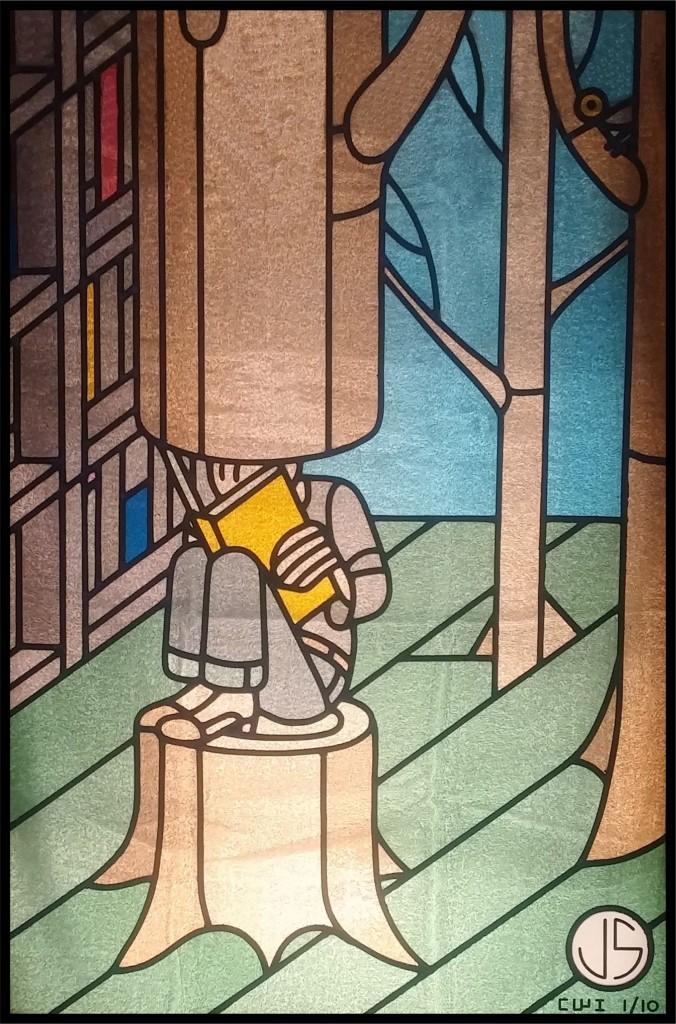 Cartoonwindow-1-Joost-Swarte-CWI-stainedglass cartoon window